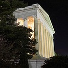 Jefferson Memorial at night in Washington, D.C., USA