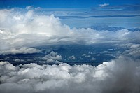 Blue sky and clouds over Maui, Hawaii, USA