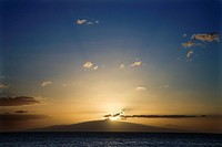 Sunset over the coast of Kihei, Maui, Hawaii, USA
