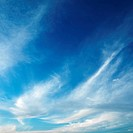Cirrus cloud formation in blue sky