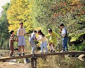 Children Playing in Yongin Folk Village,Gyeonggi,Korea