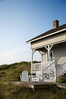 Coastal house with porch and deck on Bald Head Island, North Carolina