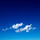 Cirrus cloud in blue sky