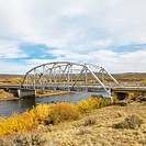 Bridge over stream in Wyoming