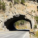 Tunnel going through rocks in South Dakota