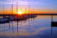 Marina Sunrise over calm reflective water