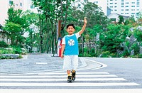 Boy Crossing Road,Korean