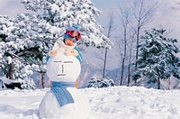 A Girl With Snowman,Korean