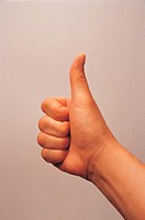 Close_Up of Thumbs Up