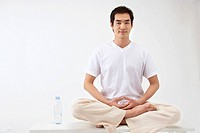 Man Practicing Yoga, Korean