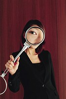 Woman Seeing through Magnifier, Korean
