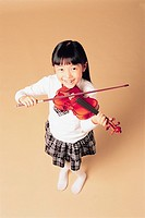 Girl Playing Violin, Korean
