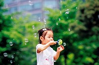 Girl Blowing Bubbles, Korea