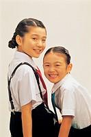Sisters smiling,Korea