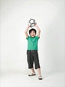 Boy Playing with Soccer Ball, Korea