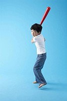 Boy with Baseball Bat, Korea