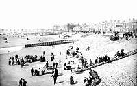 Blackpool, Central Beach 1890
