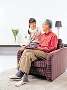 Girl with Grandfather, Korea