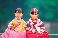Kids In Korean Costume,Korea