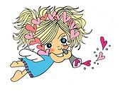 An angel, Illustration, Cartoon, Portrait