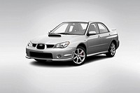 2006 Subaru Impreza WRX Limited in Gray - Front angle view