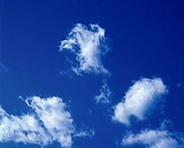 Blue sky and Clouds, Low angle view