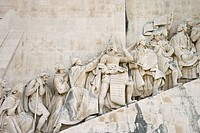 Detail of Monument to the Discoveries in Lisbon, Portugal