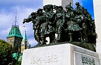 The Response, National War Memorial with the Canadian Parliament, Ottawa, Ontario, Canada