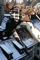 Roofs Profile in Town Center, Bern, Switzerland