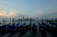 Gondolas on water, Venice, Italy