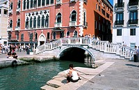 Sitting by Canal in Venice