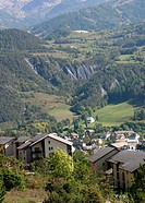 Village in the Ubaye Alps valley
