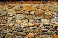 Close-up Of Stone Wall,Jeondeungsa Temple,Ganghwado Island,Incheon,Korea