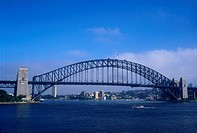 Boat Approaching Sydney Harbor Bridge