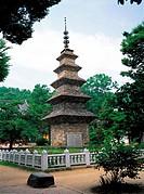 A Stone Pagoda,Songnimsa Temple,Gyeongbuk,Korea