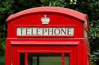 UK, London, telephone booth, Great Britain, Europe, England, old, red, crest, public