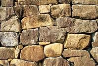 Stone-Wall,Nagan-Eupseong Folk Village,Jeonnam,Korea