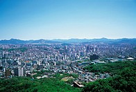 Panorama View of Jongno-gu, Seoul, Korea