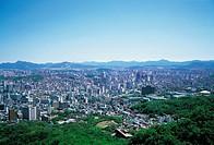 Panorama View of Jongno-gu, Seoul, Korea