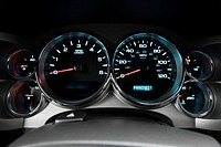 2008 GMC Sierra 3500HD SLE in White - Speedometer/tachometer
