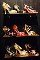 Female shoes for tango dancing. Buenos Aires. Argentina