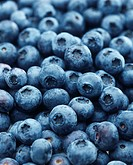 Full frame of blueberries