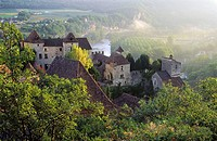 Saint-Cirq-Lapopie. Lot, Midi-Pyrénées, France