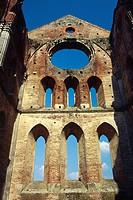Abbey San Galgano. Tuscany. Italy