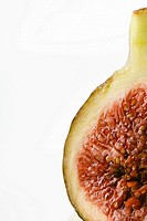 Fresh fig, cross section, cropped
