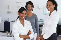 Female office workers in office,portrait