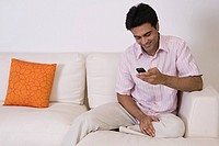 Man using cell phone