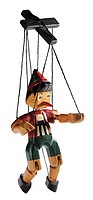 World symbols: Marionette of Pinocchio Italy