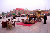 China, Xinjiang, kashgar, near Id Kah mosque, attractions for tourists