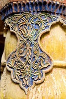 China, Xinjiang, kashgar, mosque, wooden carved detail